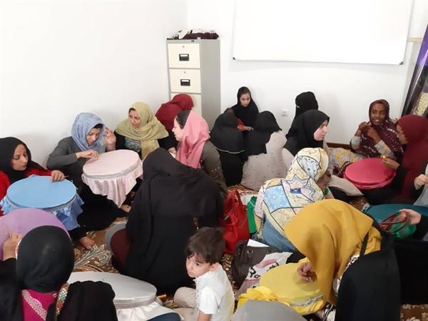 دوره آموزشی به دوزی گلابتون دوزی در روستای بحل جاسک برگزار گشت
