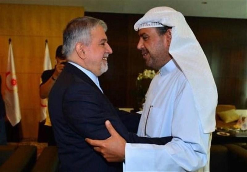 دیدار صالحی امیری با شیخ احمد و نایب رئیس شورای المپیک آسیا