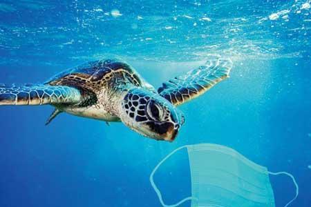رد زباله های کرونا در اقیانوس ها